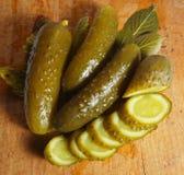 Preserved  cucumbers Stock Photos