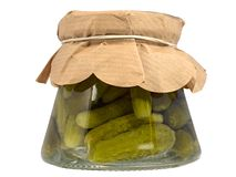 Preserved cucumbers (pickled) Stock Photos