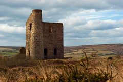 Giew Consols Mine Cripplesease Cornwall. The preserved engine house of Giew Consols mine located just outside the small hamlet of Cripplesease in Towednack Stock Photo
