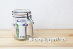 Preserved euro and interest Stock Photos