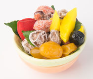 Preserved fruits & Dried fruits. Food Snack on a Background Royalty Free Stock Image