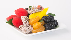 Preserved fruits & Dried fruits. Food Snack on a Background Royalty Free Stock Photo