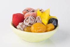 Preserved fruits & Dried fruits. Food Snack on a Background. Preserved fruits & Dried fruits. Food Snack on Background Royalty Free Stock Photo