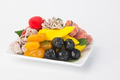 Preserved fruits & Dried fruits. Food Snack on a Background. Preserved fruits & Dried fruits. Food Snack on Background Royalty Free Stock Photos