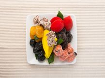 Preserved fruits & Dried fruits. Food Snack on a Background. Preserved fruits & Dried fruits. Food Snack on Background Royalty Free Stock Image