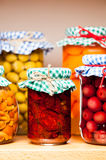 Preserved fruits and vegetables. Stock Photography