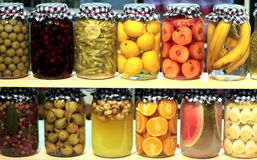 Preserved fruits and vegetables Stock Photography