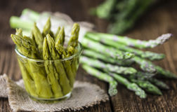 Preserved green Asparagus Royalty Free Stock Photography