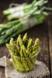 Preserved green Asparagus Stock Images