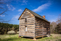 Preserved historic wood house Stock Image