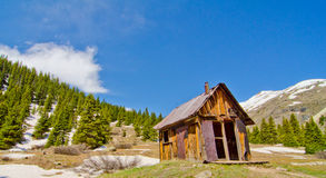 A Preserved House in Animas Forks, a ghost town in the San Juan Mountains of Colorado Royalty Free Stock Images