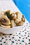 Preserved mushrooms Stock Image
