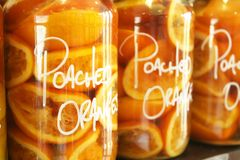 Preserved Oranges Stock Image