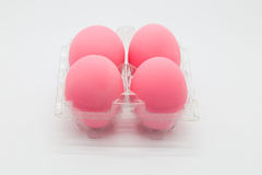 Preserved organic pink eggs Stock Image