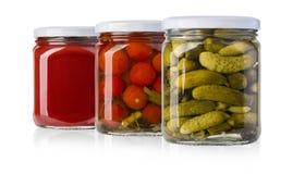 Preserved, pickled vegetables Royalty Free Stock Images