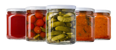 Preserved, pickled vegetables Stock Images