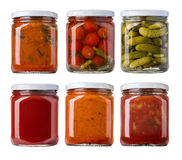 Preserved, pickled vegetables royalty free stock images