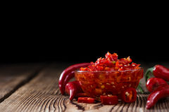 Preserved red Chilis Royalty Free Stock Photography