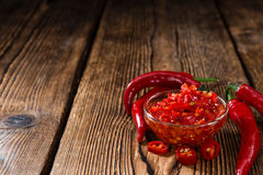Preserved red Chilis Royalty Free Stock Photos