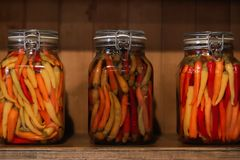 Preserved red hot chili pepper royalty free stock images
