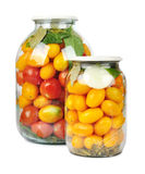 Preserved red and yellow tomatoes Royalty Free Stock Image