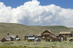 Preserved residences in Bodie State Historic Park. royalty free stock photos