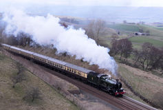 Preserved steam engine on Settle to Carlisle line. Stock Images