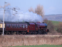 Preserved steam locomotive on West Coast Main Line Stock Images