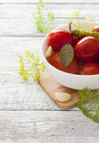 Preserved tomatoes Royalty Free Stock Photography