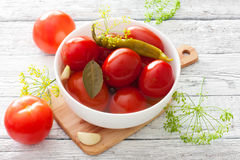 Preserved tomatoes Stock Photo