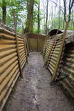 Preserved trenches of the First World War Stock Photo