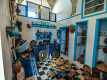 Preserved typical Tunisian kitchen in Kairouan. Stock Photos