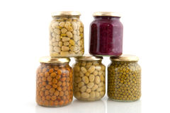 Preserved vegetables Royalty Free Stock Photos