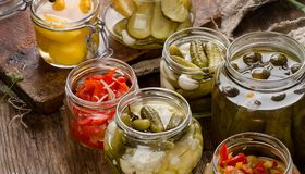 Fermented preserved vegetables Royalty Free Stock Photos