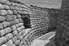 Preserved Vimy Trench. Preserved Allied Trench in Vimy Royalty Free Stock Images
