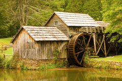 A preserved watermill from pioneer days Royalty Free Stock Images