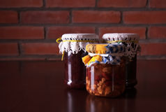 Preserves. Homemade preserves in a jar Stock Image