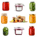 Preserves. Jar Label Marmalade Gelatin Dessert Glass Royalty Free Stock Photography