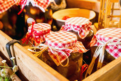 Preserves in jars Stock Image