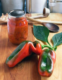 Preserving Homegrown Peppers Royalty Free Stock Photos