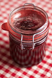 Preserving jar with amarena Royalty Free Stock Images