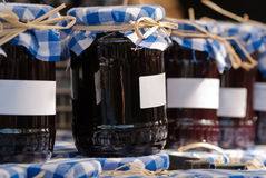 Preserving jars. Many preserving jars stand side by side and about one another Royalty Free Stock Images