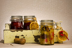 Preserving jars Royalty Free Stock Photography