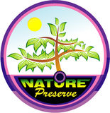 Preserving nature tree emblem stock illustration