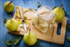 Preserving pears Royalty Free Stock Photos