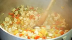 Preserving vegetables for the winter stock footage