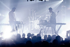 The presets in Concert Stock Image