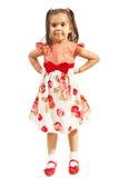 Preshooler girl in elegant dress Royalty Free Stock Image