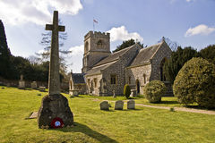 Preshute Church. This is St George's Church Preshute in Wiltshire, noted for its attractive stonework royalty free stock photo