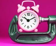 Presión de tiempo rosada Fotos de archivo